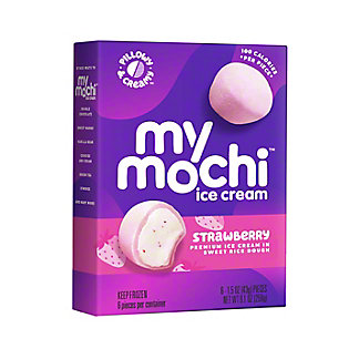My Mo Mochi Ice Cream Ripe Strawberry, 6 ct