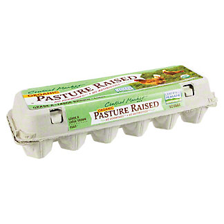 Central Market Organic Pasture Raised Large Brown Eggs, 12 ea