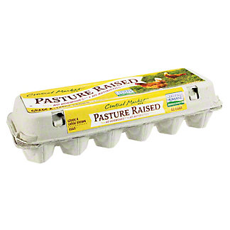 Central Market Pasture Raised Large Brown Eggs, 12 ct