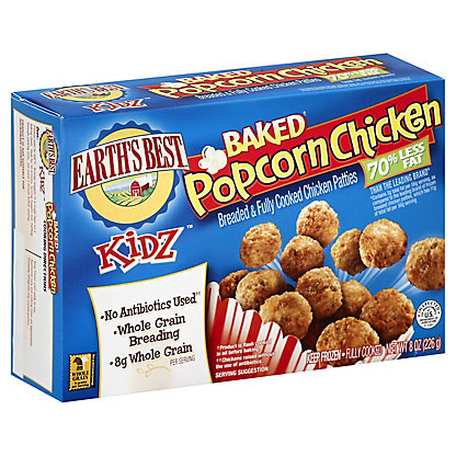 Earths Best Kidz Baked Popcorn Chicken, 8 oz