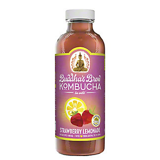 Buddha's Brew Strawberry Lemonade Kombucha, 16 oz