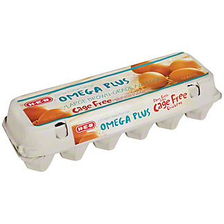 H-E-B Cage Free Omega Plus Large Brown Eggs, 12 ct