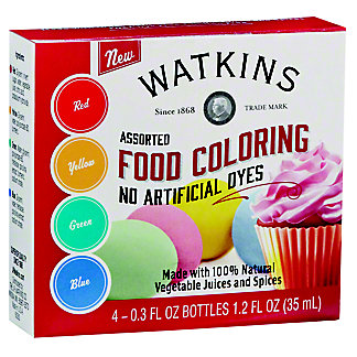 Watkins Assorted Food Coloring, 4 pk