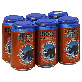Anderson Valley Boont Amber Ale Beer 12 oz  Cans, 6 pk