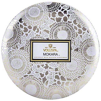 Voluspa Mokara 3 Wick Tin, 12 oz