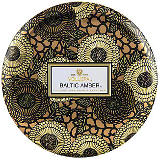 Voluspa Baltic Amber 3 Wick Tin, 12 oz