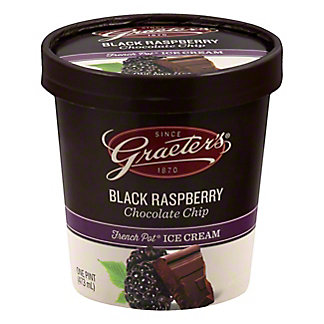 Graeters Black Raspberry Chocolate Chip, pt