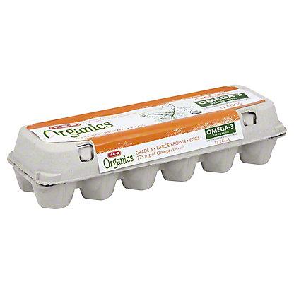 H-E-B Organics Omega-3 Large Brown Eggs,12 ct