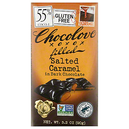 Chocolove Dark Chocolate Salted Caramel Bar,3.2 oz