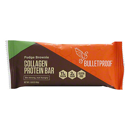 Bulletproof Fudge Brownie Collagen Bars, 1.58 oz