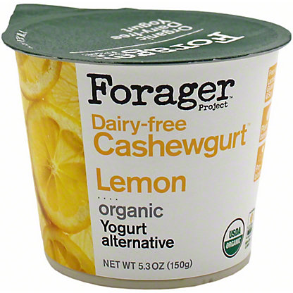 Forager Organic Lemon Cashew Yogurt, 5.3 oz