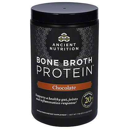 Ancient Nutrition Chocolate Bone Broth Protein,17.8 oz