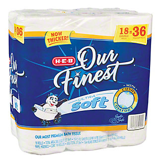 H-E-B Our Finest Ultra Soft Double Rolls,18 ea