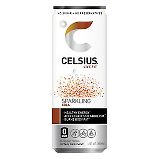 Celsius Sparkling Cola, 12 oz