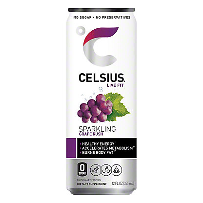 Celsius Sparkling Grape Rush, 12 oz