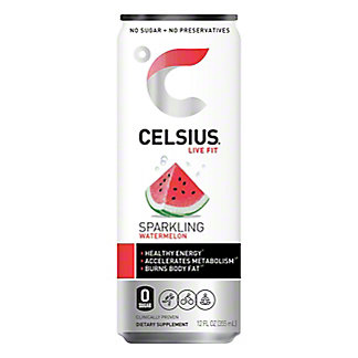Celsius Sparkling Watermelon, 12 oz