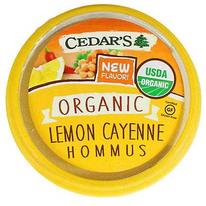 Cedars Organic Lemon Cayenne Hommus, 8 oz