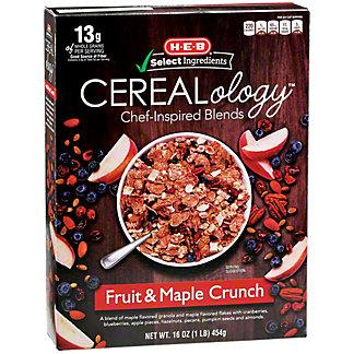 H-E-B Select Ingredients Cerealology Fruit & Maple Crunch, 16 oz