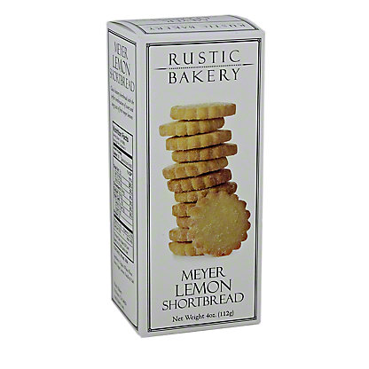 Rustic Bakery Meyer Lemon Shortbread Cookies, 3.66 oz