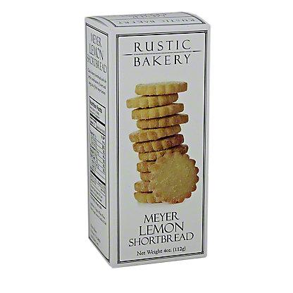Rustic Bakery Meyer Lemon Shortbread Cookies, 3.66 oz