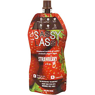 Sassy Lassi Strawberry, 6 oz