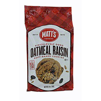 Matts Cookies Raisin Cookies, 14 oz