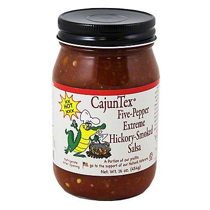 Cajun Texas Five Pepper Extreme Hickory Smoked Salsa, 16 OZ
