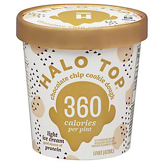 Halo Top Halo Top Chocolate Chip Cookie Dough,1 pt
