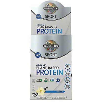 Garden Of Life Sport Plant Protein Vanilla Tray, 12 ct