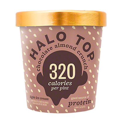 Halo Top Light Ice Cream Chocolate Almond Crunch,1 pt