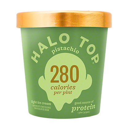 Halo Top Light Ice Cream Pistachio,1 pt