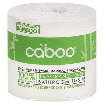 Caboo 500 Sheet Single Roll Bathroom Tissue, Each