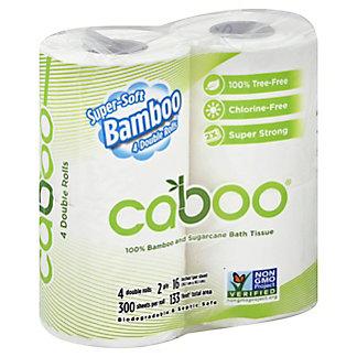 Caboo 300 Sheet 4 Pack Bathroom Tissue, Each