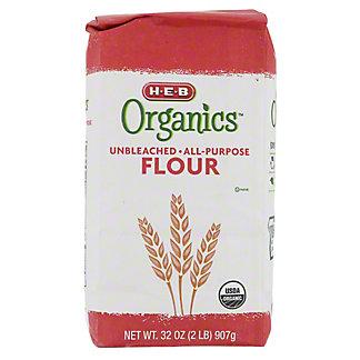 H-E-B Organics Unbleached All Purpose Flour, 2 lb