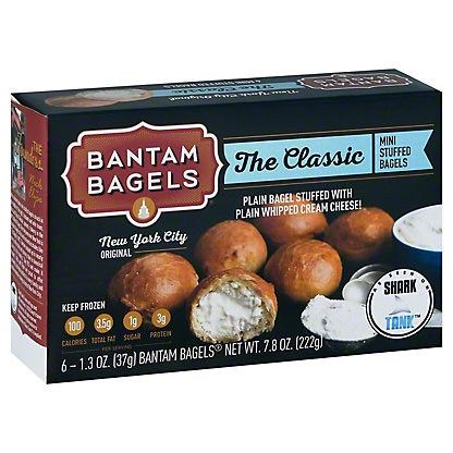 Bantam Bagels The Classic Plain Stuffed Bagel, 6.00 ea