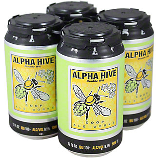 Coop Alpha Hive Double IPA 12 oz Cans, 4 pk