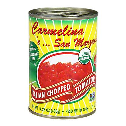 carmelina organic chopped tomatoes 14 28z central market