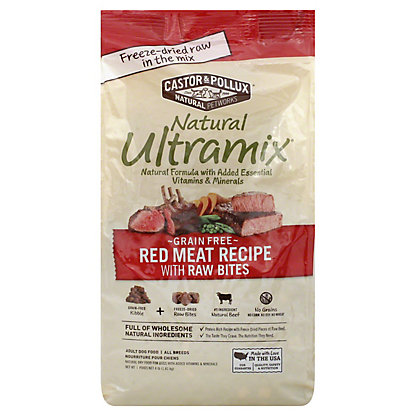 Castor & Pollux Natural Ultramix Red Meat W/ Raw Bits, 4 lb
