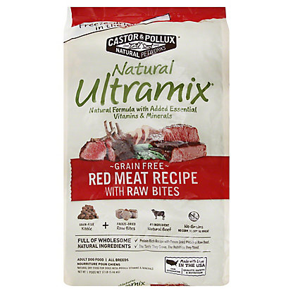 Castor & Pollux Natural Ultramix Grain Free Red Meat With Raw Bits, 12 lb