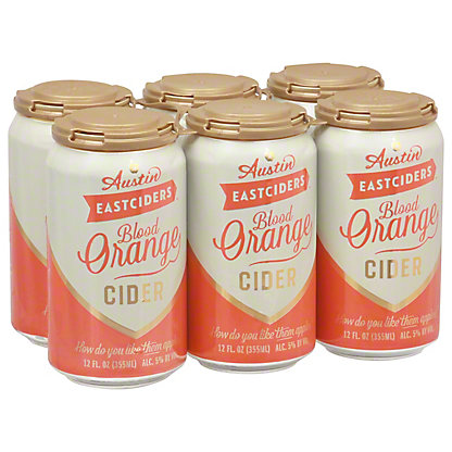 Austin Eastciders Blood Orange Cider 12 oz Cans, 6 pk