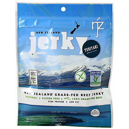 New Zealand Jerky Premium Beef Jerky Teriyaki, 2 oz