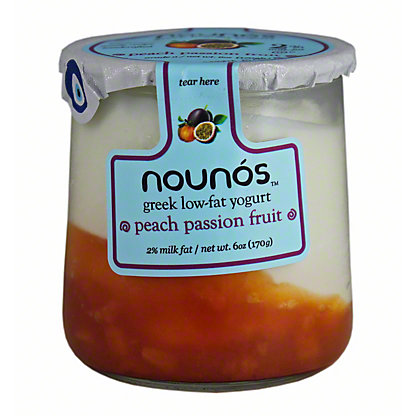 Nounos 2% Greek Yogurt Peach Passion Fruit, 6 oz