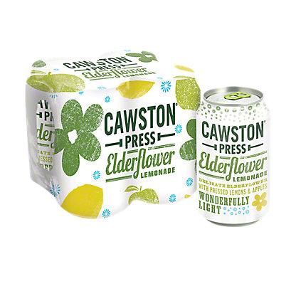 Cawston Press Elderflower Lemonade 11 oz Cans, 4 pk