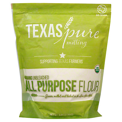 Texas Pure Milling Organic Unbleached All Purpose Flour, 3 lb
