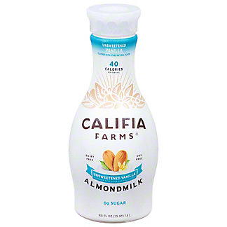 Califia Farms Unsweetened Vanilla Almondmilk, 48 oz