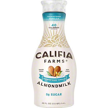 Califia Farms Unsweetened Vanilla Almondmilk, 48 oz