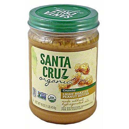 Santa Cruz Organic Organic Light Roasted Crunchy Peanut Butter,16 oz