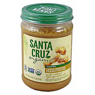 Santa Cruz Organic Organic Light Roasted Crunchy Peanut Butter,16 oz