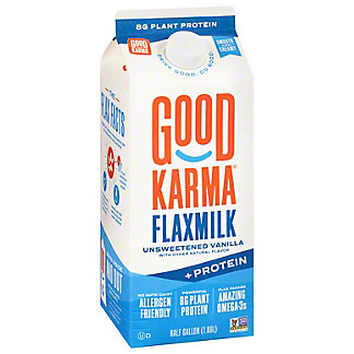 Good Karma Unsweetened Vanilla + Protein Flax Milk, 64 oz