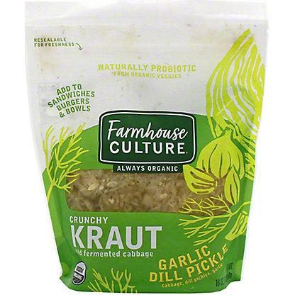 Farmhouse Culture Garlic Dill Pickle Kraut, 16 oz